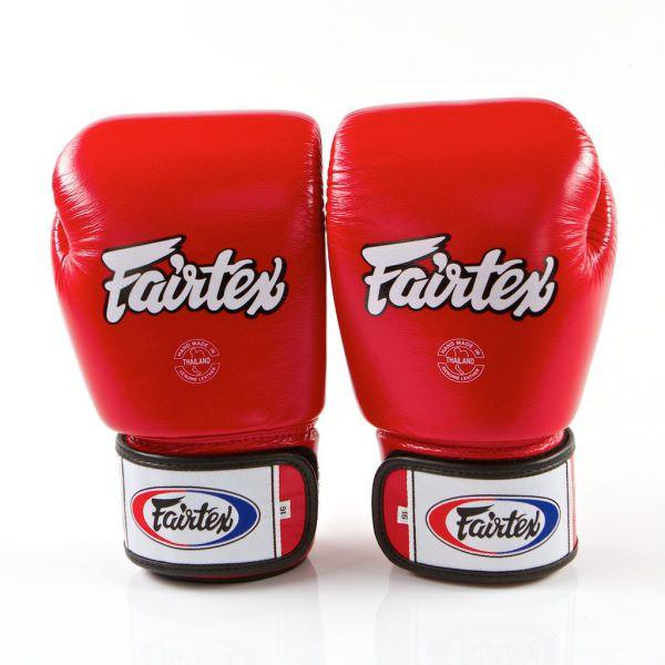 Guante boxeo Fairtex bgv1 de color rojo