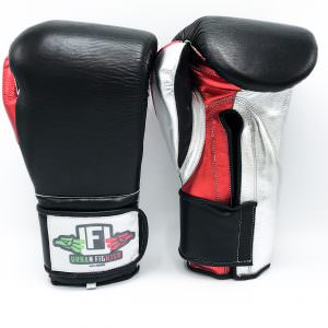 Guante de boxeo Urban Fighter Mexico black velcro negro y rojo y blanco