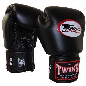 Guante de boxeo Twins Special bgvl-3 negro de piel artesanal
