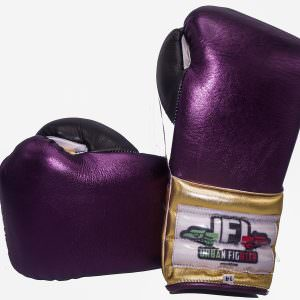 Guante de boxeo Urban Fighter Mexico colores morado-oro