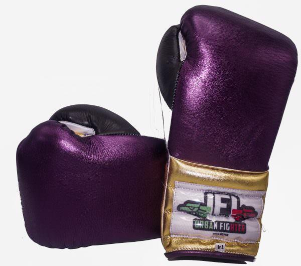 Guante de boxeo Urban Fighter Mexico colores morado-oro