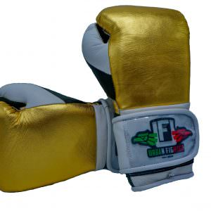 Guante de boxeo Urban Fighter Mexico gold velcro color oro