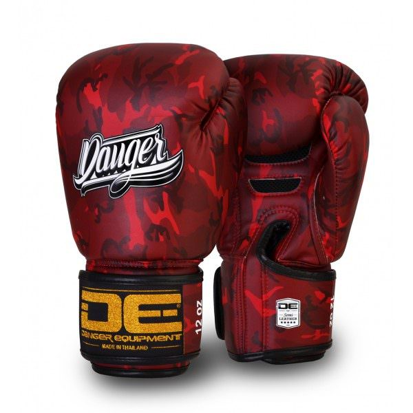 Guante de boxeo Danger Red Army de color rojo militar