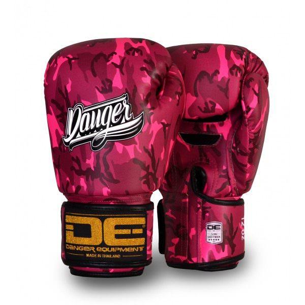 Guante de boxeo danger pink army de color rosa militar