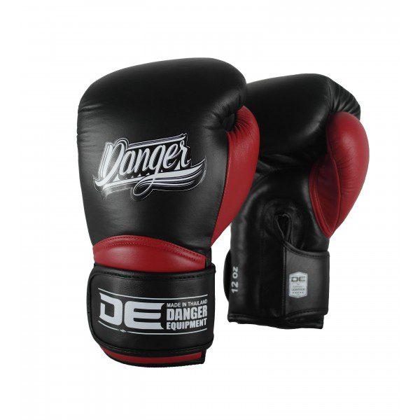 Guante de boxeo danger rocket 5.0 bred negro y rojo