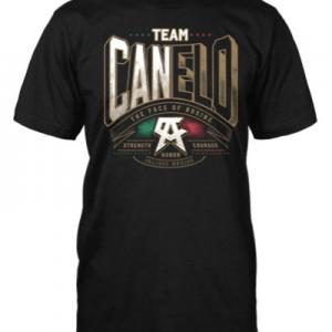 Camiseta canelo power de color negra, Camiseta oficial del Canelo Alvarez
