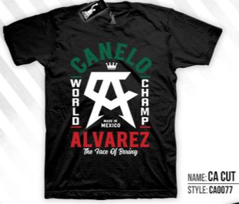 Camiseta oficial del Canelo Alvarez de color negro