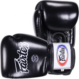 Guante de boxeo Fairtex bgv1 en piel y de colornegro