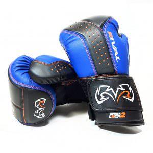Guante Rival rb10 intelli-shock de color azul y negro